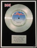 "SEX PISTOLS - 7"" Platinum Disc - HOLIDAYS IN THE SUN"
